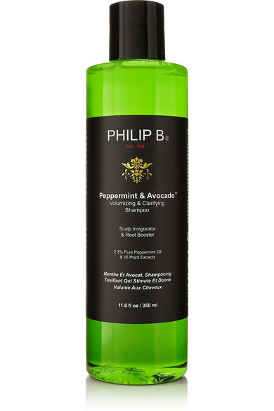 PHILIP B PEPPERMINT AND AVOCADO VOLUMIZING & CLARIFYING SHAMPOOO, 350ML - COLORLESS