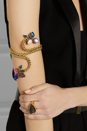 Erickson Beamon+ Anna Sui Cosmic Code gold-plated Swarovski crystal arm cuff