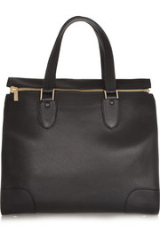 Valextra Milano textured-leather tote