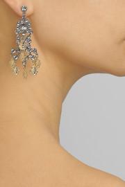 Tom BinnsAnimal Collective rhodium-plated Swarovski crystal earrings