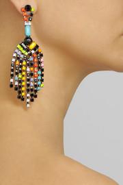 Tom BinnsDe Stijl rhodium-plated Swarovski crystal drop earrings