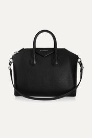 Medium Antigona bag in black goat leather