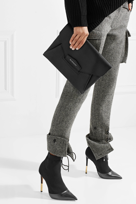 Givenchy Antigona textured-leather clutch