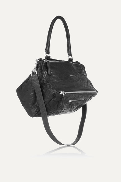 Pandora Striped Textured-leather Shoulder Bag - Black Givenchy ynxLRU9