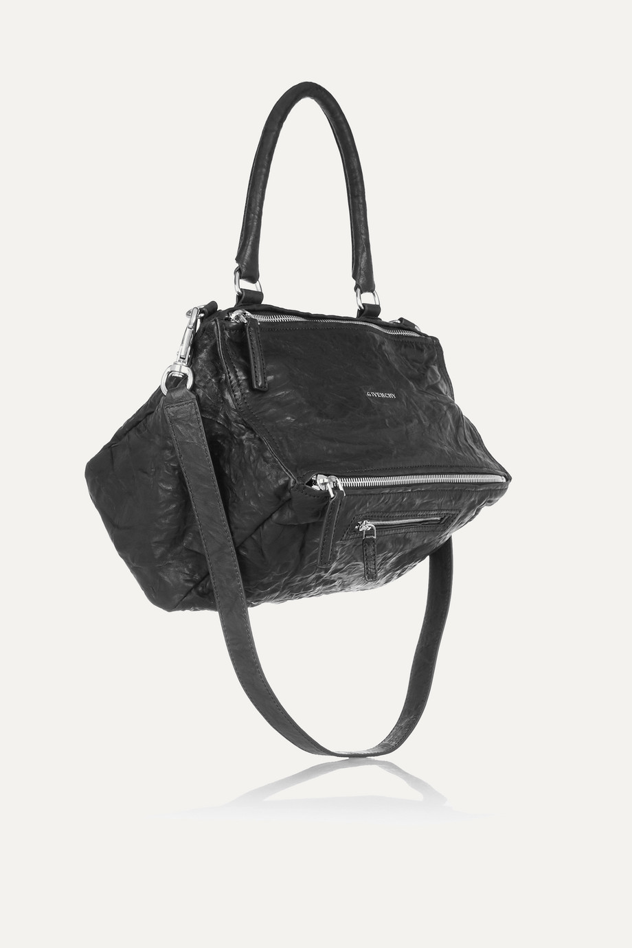 Givenchy Medium Pandora Bag in Washed-Leather, Black, Women's, Size: One Size