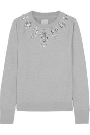 Sydney embellished stretch-cotton jersey sweatshirt