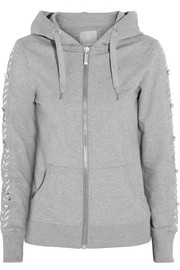Swetc Harri embellished stretch-cotton jersey hooded top