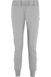 Swetc Jaime embellished stretch-cotton jersey track pants