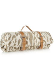Finds + Maslin & Co reversible leopard-print brushed-cotton beach towel