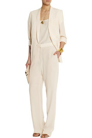 Stella McCartney Bartlett silk crepe de chine blazer