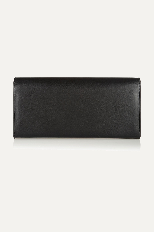 SAINT LAURENT Monogramme leather clutch