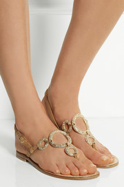 Musa Swarovski crystal-embellished leather sandals