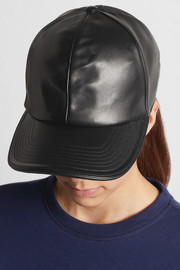 Neil Barrett Leather and mesh baseball cap
