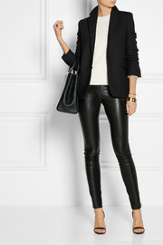 The Row Moto stretch-leather skinny pants