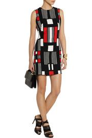 Alexander McQueenPrinted crepe mini dress