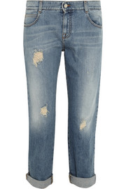 Stella McCartney Tomboy distressed low-rise boyfriend jeans