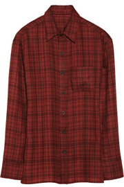 The Elder Statesman Plaid cashmere shirt