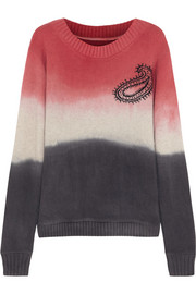 The Elder Statesman Dip-dye cashmere sweater