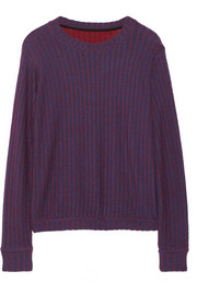 The Elder Statesman Two-tone cashmere sweater