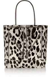 Tamara Mellon TM Love large leopard-print calf hair tote