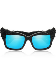 The Escapist cat eye acetate mirrored sunglasses
