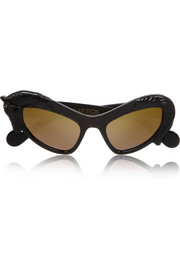 Anna-Karin Karlsson Black Horse cat eye acetate sunglasses