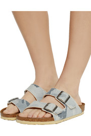 Birkenstock Arizona camouflage-print canvas slides