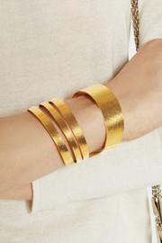 Hervé Van der StraetenHammered gold-plated cuff