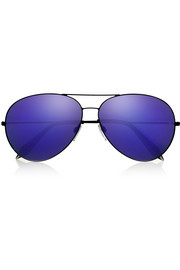 Victoria Beckham Classic Aviator metal mirrored sunglasses