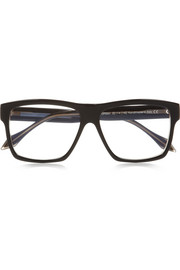 Victoria Beckham Square-frame acetate optical glasses