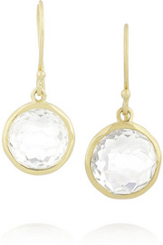 Lollipop 18-karat gold quartz earrings