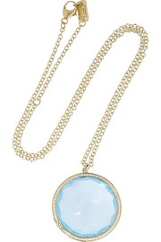 Ippolita Gelato 18-karat gold, topaz and diamond necklace