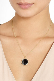 Ippolita Lollipop 18-karat gold, onyx and diamond necklace