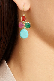Ippolita Gelato Mini Cascade 18-karat gold multi-stone earrings