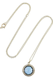 Ippolita Lollipop 18-karat gold, topaz and diamond necklace