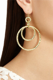 Ippolita Glamazon Jet Set 18-karat gold earrings