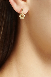 Ileana Makri Bolt 18-karat gold earrings