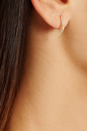 Ileana Makri Boomerage 18-karat gold diamond earrings