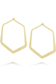 Ileana Makri Large Hexagon 18-karat gold earrings
