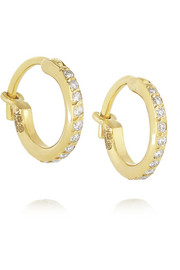Ileana Makri 18-karat gold diamond hoop earrings