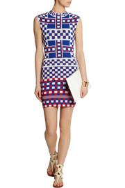 Alexander McQueenStretch-knit jacquard dress