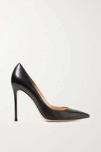 gianvito rossi female 188971 gianvito rossi 105 leather pumps black