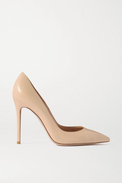 gianvito rossi female 186518 gianvito rossi 105 leather pumps beige
