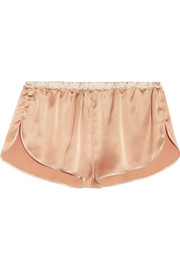 Amour silk-charmeuse shorts