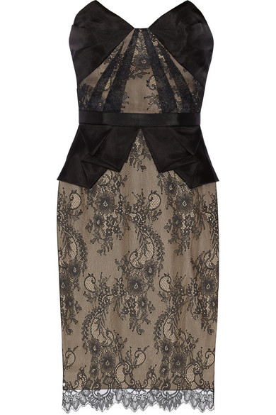 Sale alerts for Lace and organza dress Notte by Marchesa - Covvet