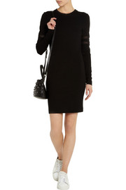 Karl Lagerfeld Madison mesh-paneled jersey dress
