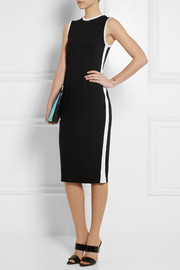 Karl Lagerfeld Hannah mesh-trimmed stretch-jersey dress