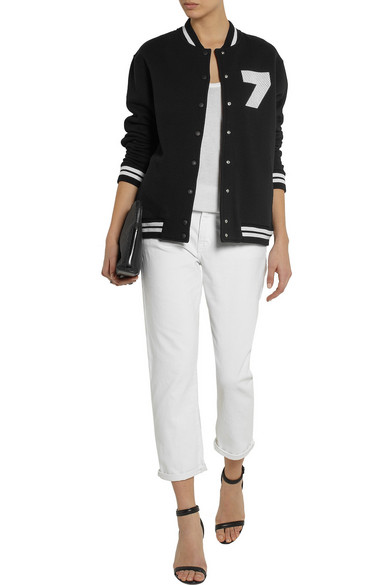 Brittany cotton jersey bomber jacket