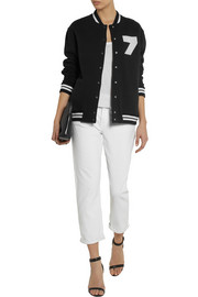 Karl Lagerfeld Brittany cotton-jersey bomber jacket