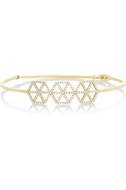 Lito Izel 14-karat gold diamond bangle